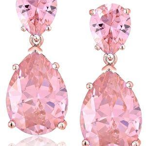 CZ by Kenneth Jay Lane Double Pear Drop Earrings